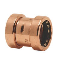 Tectite Sprint  Copper Push-Fit Equal Couplers 15mm 10 Pack