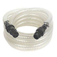 Reinforced Suction Hose with Filter Clear 7m x 1""