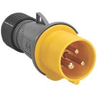 ABB 16A Straight Plug 2P+E 110V Yellow