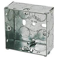 Appleby Galvanised Steel Knockout Box 1G 25mm