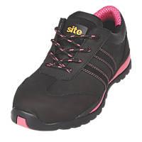 Site Dorain  Ladies Safety Trainers Black Size 6