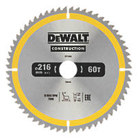 DeWalt TCT Saw Blade 216 x 30mm 60T