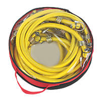 Bungee Cords with Zinc Hooks Yellow 1200 x 12mm 6 Pack