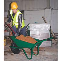Walsall Easiload Pneumatic Wheels Builders Wheelbarrow Green 85Ltr