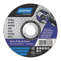 "Norton   Metal Cutting Disc 5"" (125mm) x 1.6 x 22.23mm"