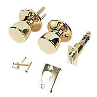 ERA  Mortice Passage Knob Pack Polished Brass 67mm