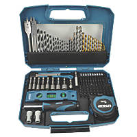Erbauer Straight Shank Mixed Drill & Screwdriver Bit Set 100 Pieces
