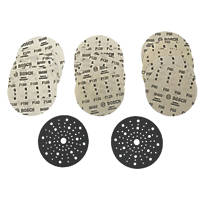 Bosch  Sanding Discs Punched 125mm 80 / 120 / 180 Grit 15 Pack