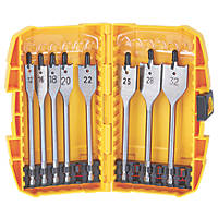 DeWalt Flat Wood Bit Set 8 Pieces