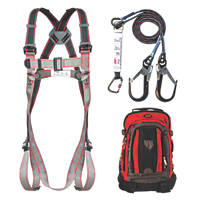 JSP Pioneer Twin Tail Fall Arrest Kit with Lanyard 2m