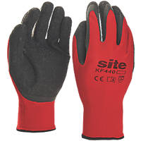 Site KF440 Superlight Latex Gripper Gloves Red / Black Large