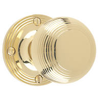 Carlisle Brass Rimmed Mortice Knobs Pair Polished Brass 52mm