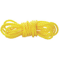 Diall Twisted Rope Yellow 8mm x 50m