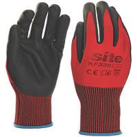 Site KF320 Nitrile Foam Coated Gloves Red / Black Large