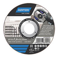 "Norton   Cutting Disc 4½"" (115mm) x 1.6 x 22.23mm 5 Pack"