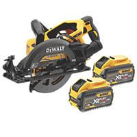 DeWalt DCS577T2-GB 190mm 54V 6 0Ah Li-Ion XR FlexVolt Brushless Cordless High Torque Circular Saw