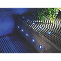 LAP Coldstrip LED Deck Lights Brushed Chrome 30mm 10 Pack