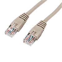 Beige Unshielded RJ45 Cat 5e Ethernet Cable 3m 10 Pack