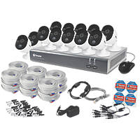 Swann SODVK-1645812-UK 16-Channel Wired CCTV Kit & 12 Cameras