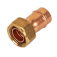 """Yorkshire  Copper Solder Ring Straight Tap Connector 15mm x ½"""""""