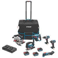 Erbauer E18-6KA 18V 4.0Ah Li-Ion EXT  Cordless Power Tool Kit
