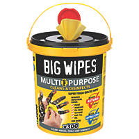 Big Wipes Multipurpose Cleaning Wipes Yellow 300 Pack