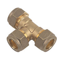 Compression Equal Tees 15mm 2 Pack