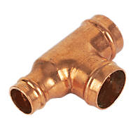 Yorkshire  Copper Solder Ring Reducing Tee 22 x 15 x 22mm