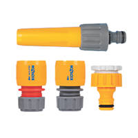 Hozelock Sprayer & Hose Fittings Starter Kit 4 Pieces