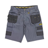 "DeWalt Ripstop Multi-Pocket Shorts Grey / Black 32"" W"
