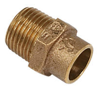"""Yorkshire  Brass Solder Ring Adapting Male Coupler 15mm x ½"""""""