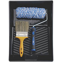 Harris Trade Extra Long Pile Masonry Roller & Brush Set 4 Pieces
