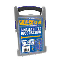 Goldscrew PZ Double-Countersunk Woodscrews Trade Case Grab Pack 1000 Pcs