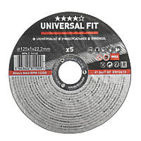 "Metal Cutting Discs 5"" (125mm) x 1 x 22.2mm 5 Pack"