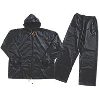 "JCB Essential Rain Suit Black Large 44-46"" Chest"